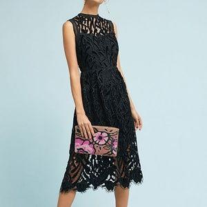 Anthropologie Shoshanna Velvet Detail Lace Dress